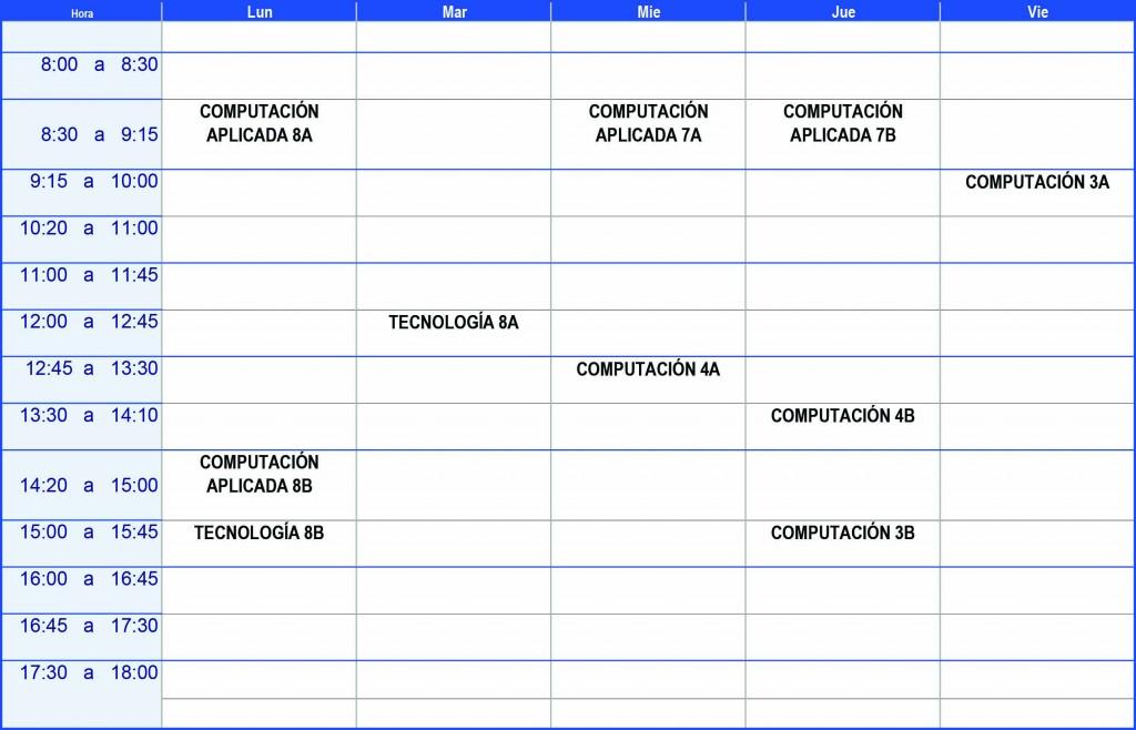 Plantilla Horario Excel